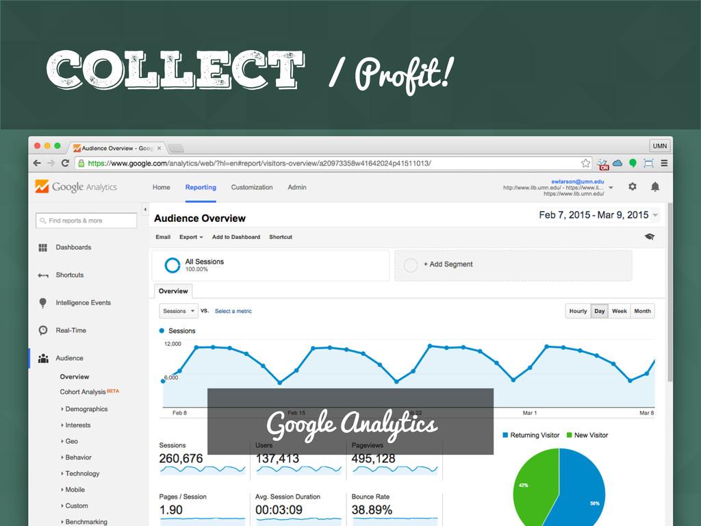 GitHub Collect / Profit! Google Analytics