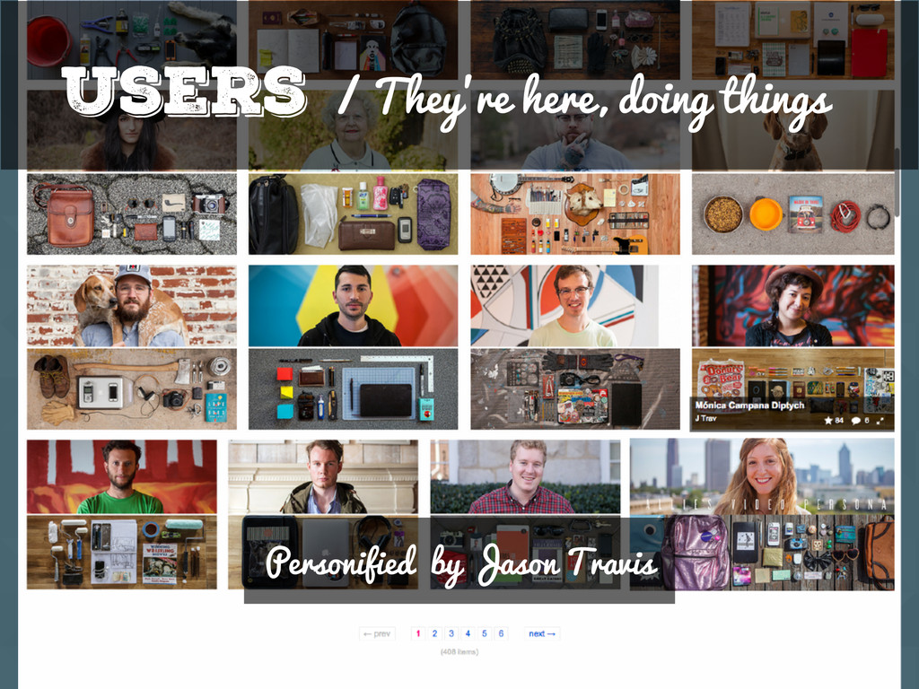 Users / They're here, doing things Personified ...