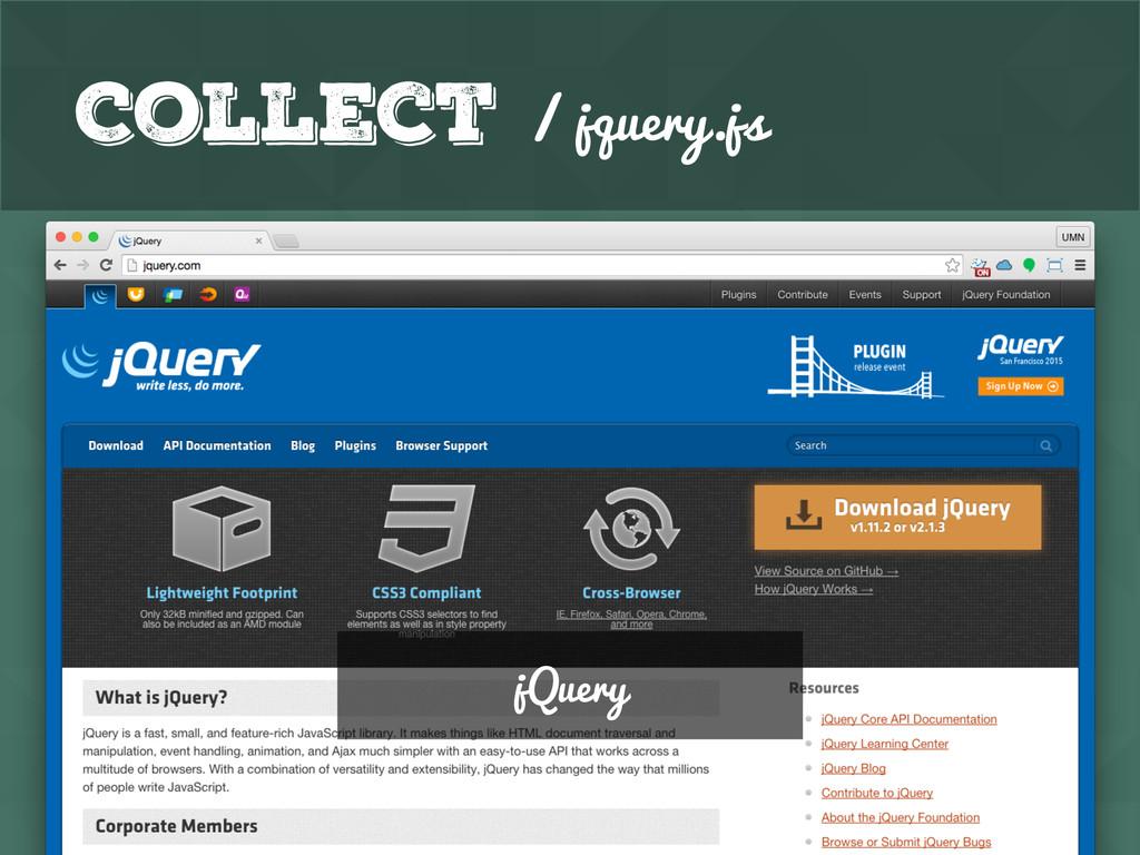 GitHub Collect / jquery.js Google Analytics jQu...