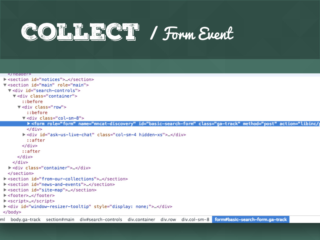 Collect / Form Event