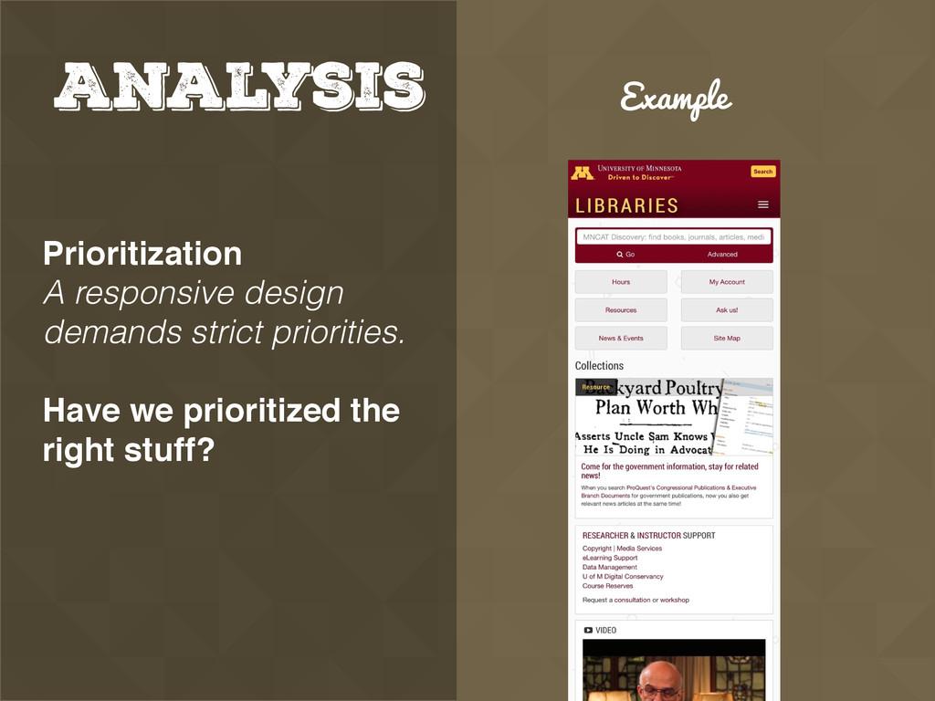 Analysis Prioritization A responsive design de...
