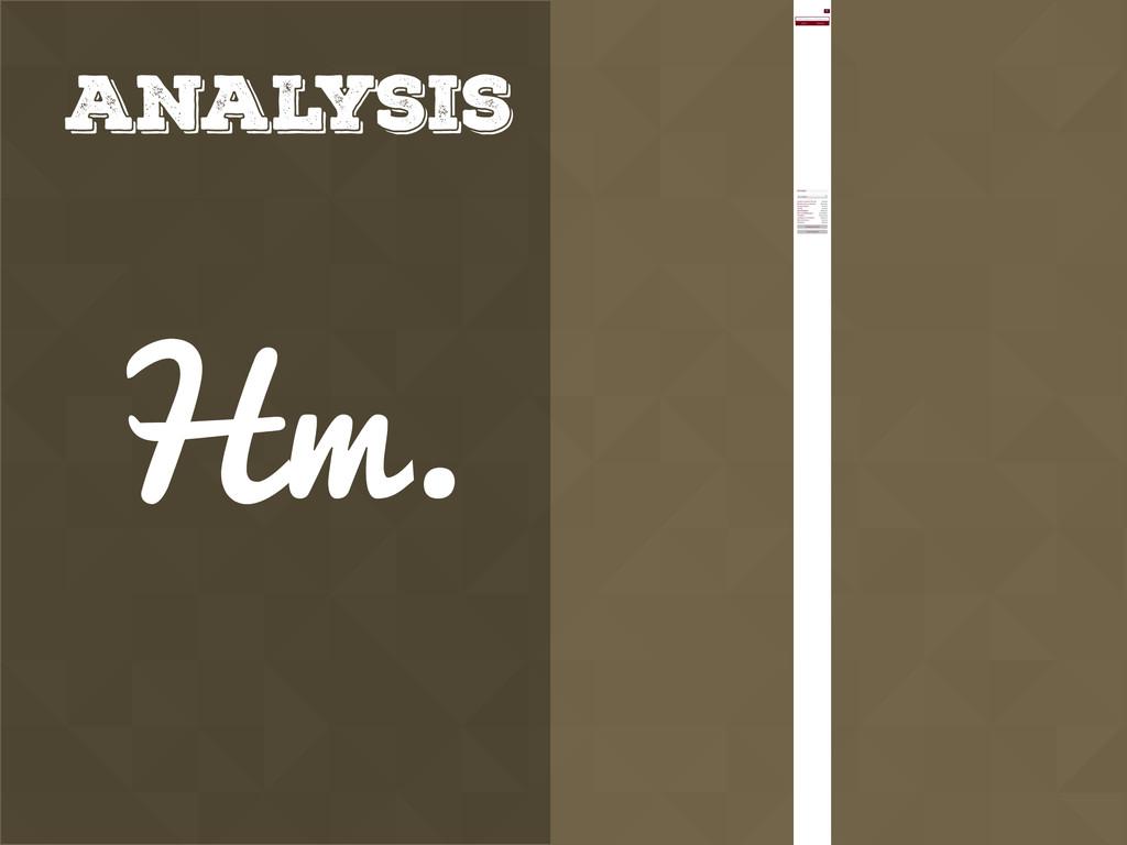 Analysis Hm.