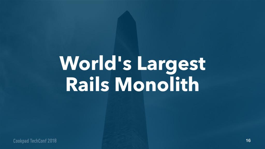 16 World's Largest Rails Monolith