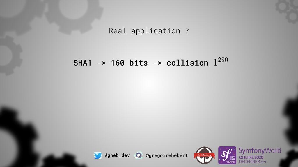 @gheb_dev @gregoirehebert SHA1 -> 160 bits -> c...