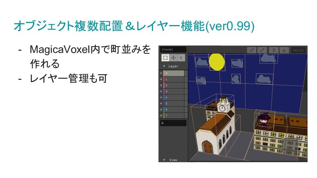 オブジェクト複数配置&レイヤー機能(ver0.99) - MagicaVoxel内で町並みを ...