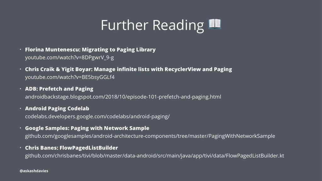 Further Reading • Florina Muntenescu: Migrating...