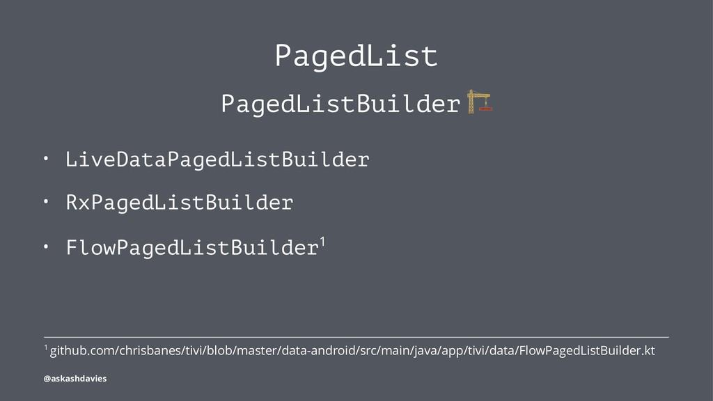 PagedList PagedListBuilder • LiveDataPagedListB...