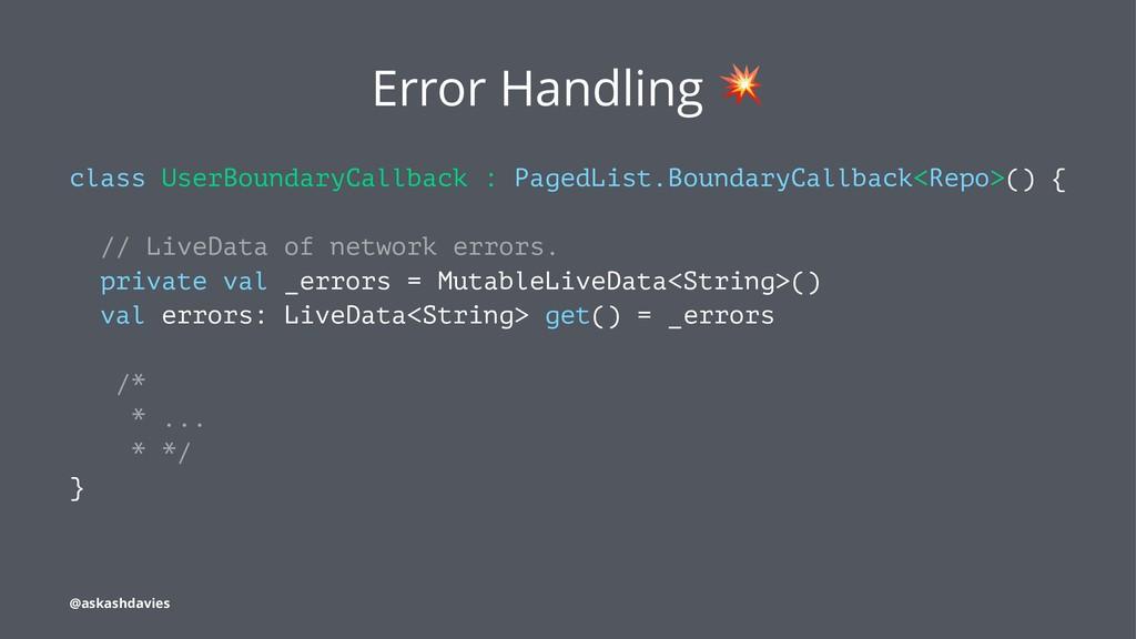 Error Handling class UserBoundaryCallback : Pag...