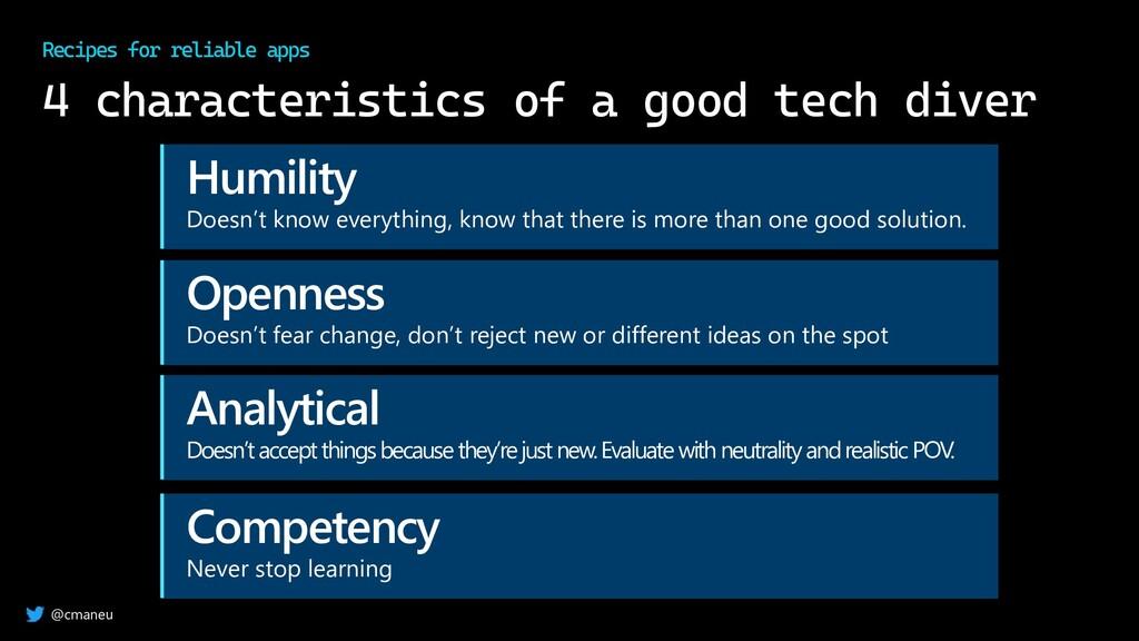 @cmaneu 4 characteristics of a good tech diver ...