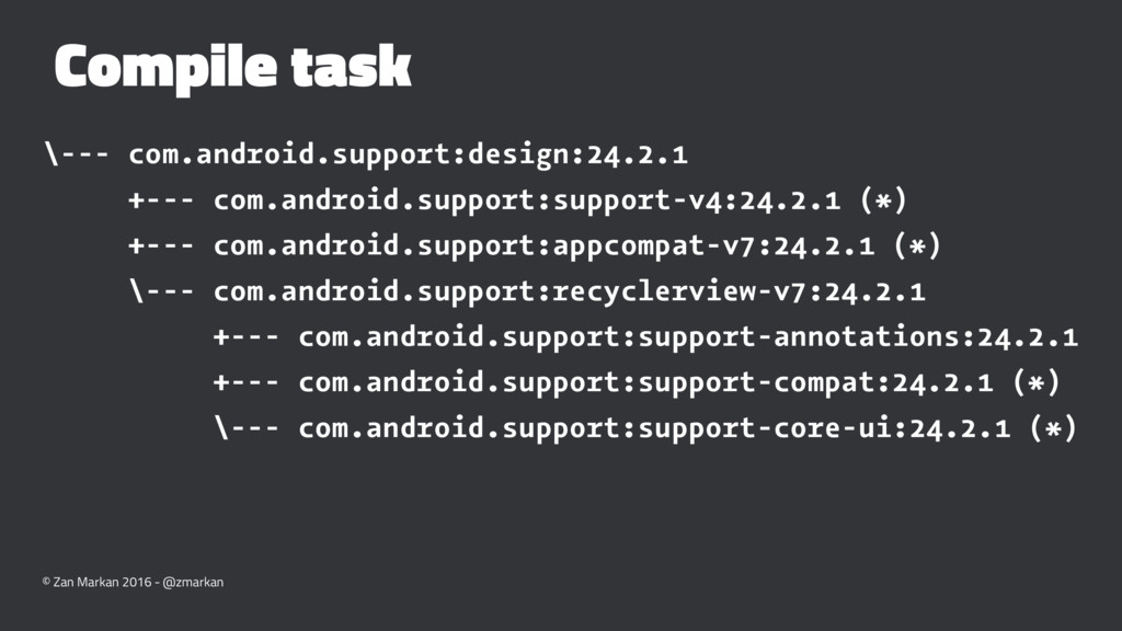 Compile task \--- com.android.support:design:24...