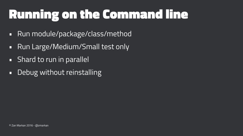 Running on the Command line • Run module/packag...