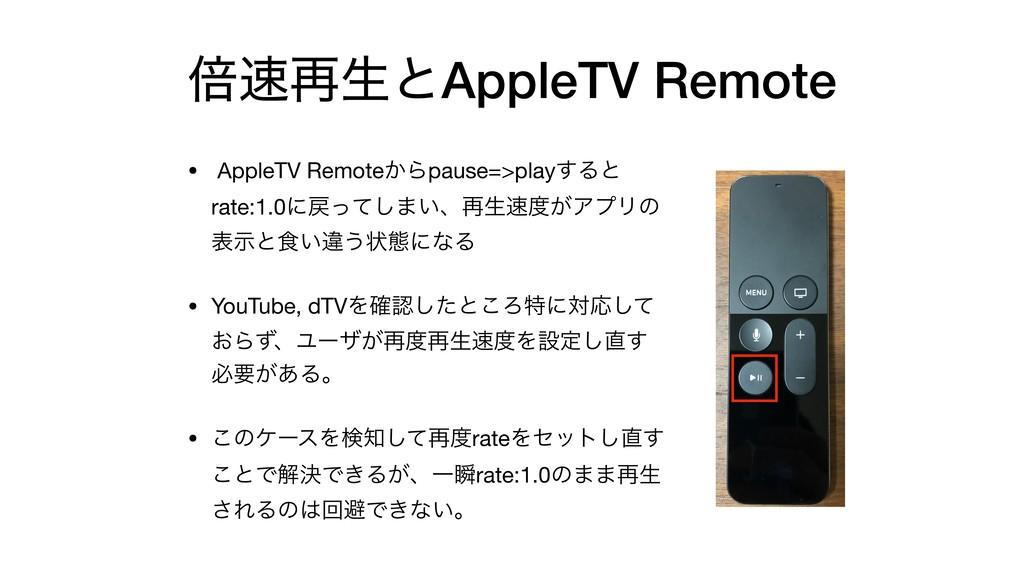 ഒ࠶ੜͱAppleTV Remote • AppleTV Remote͔Βpause=>pl...