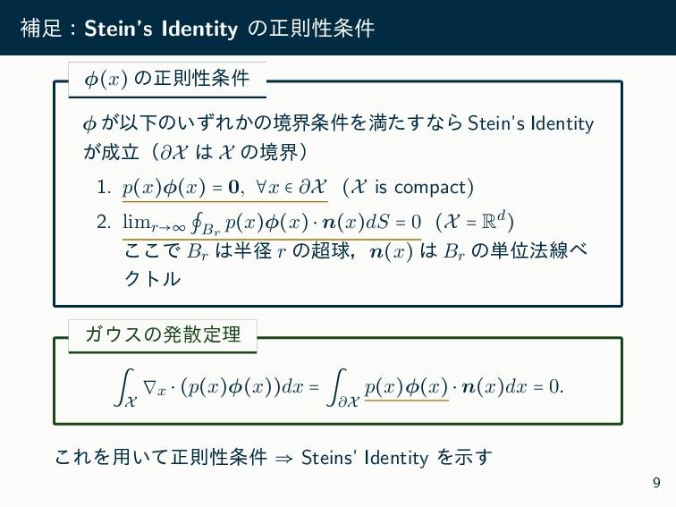 ิɿStein's Identity ͷਖ਼ଇੑ݅ ϕ(x) ͷਖ਼ଇੑ݅ ϕ ͕ҎԼͷ͍ͣ...