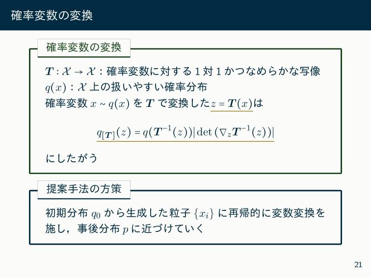 ֬มͷม ֬มͷม T ∶ X → Xɿ֬มʹର͢Δ 1 ର 1 ͔ͭͳΊΒ͔...