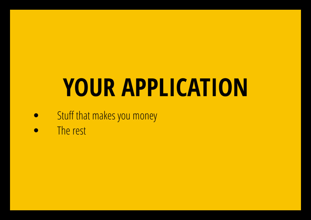 YOUR APPLICATION Stu that makes you money The r...