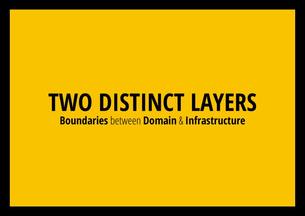 TWO DISTINCT LAYERS Boundaries between Domain &...