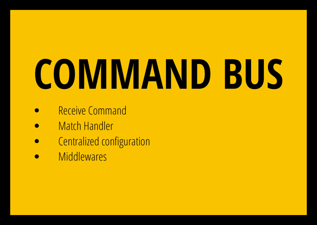 Receive Command Match Handler Centralized con g...