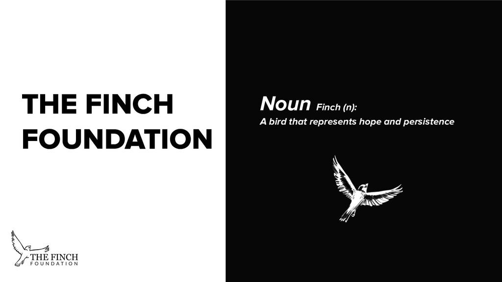 THE FINCH FOUNDATION Noun Finch (n): A bird tha...