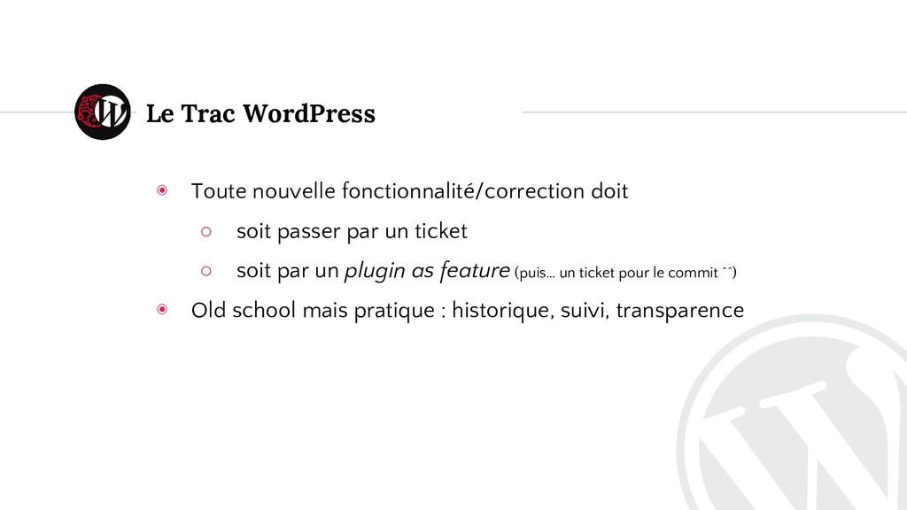 Le Trac WordPress ◉ Toute nouvelle fonctionnali...