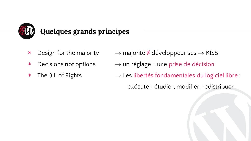 Quelques grands principes ◉ Design for the majo...