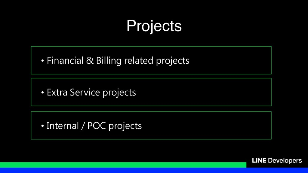 • Financial & Billing related projects • Extra ...