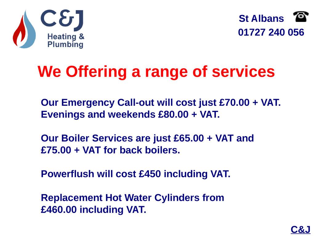 01727 240 056 St Albans We Offering a range of ...