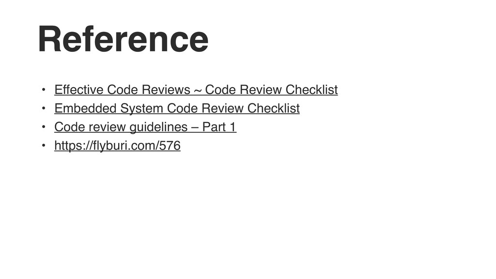 Reference • Effective Code Reviews ~ Code Revie...