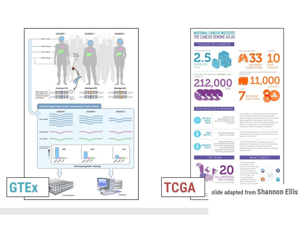GTEx TCGA slide adapted from Shannon Ellis
