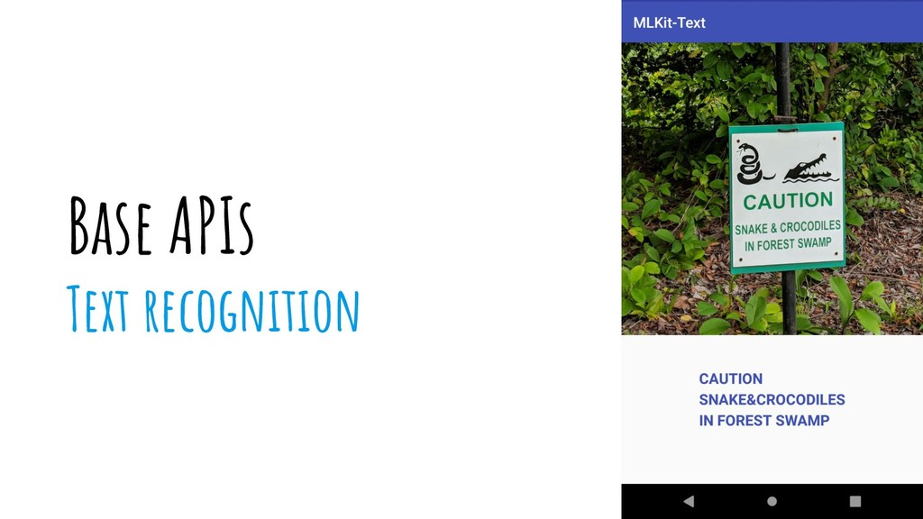 Base APIs Text recognition