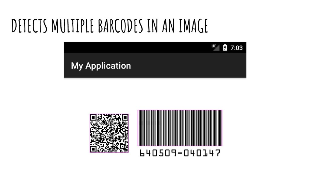 DETECTS MULTIPLE BARCODES IN AN IMAGE