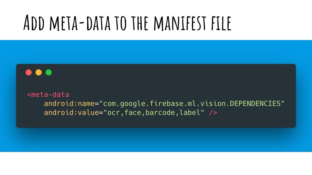 Add meta-data to the manifest file