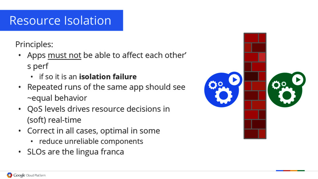 Resource Isolation Principles: • Apps must not ...