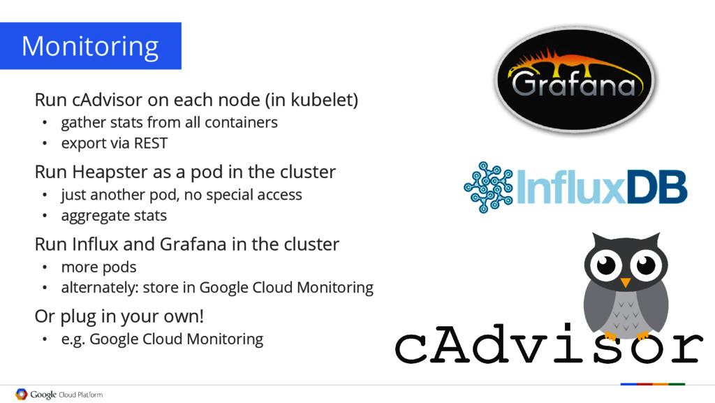 Monitoring Run cAdvisor on each node (in kubele...