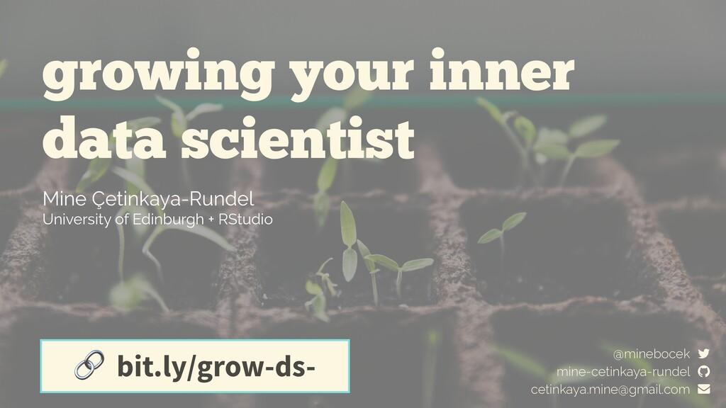 growing your inner data scientist Mine Çetinkay...