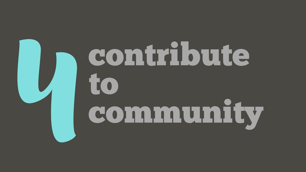 4contribute to community
