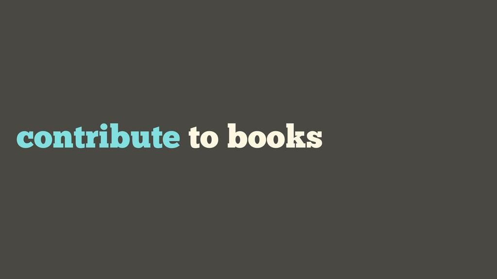 contribute to books