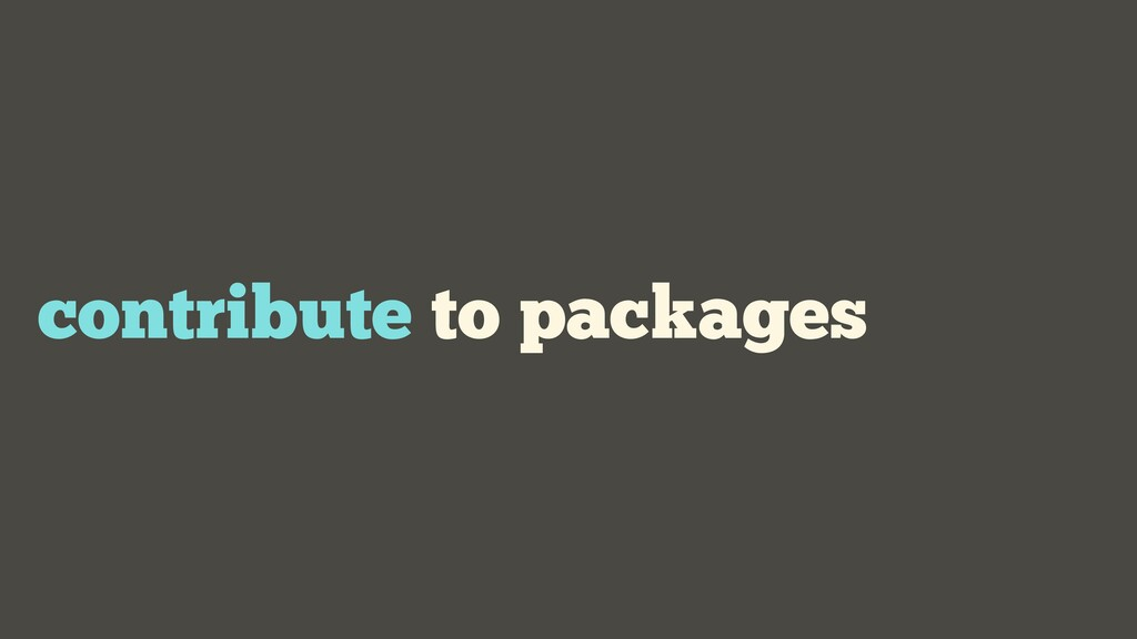 contribute to packages