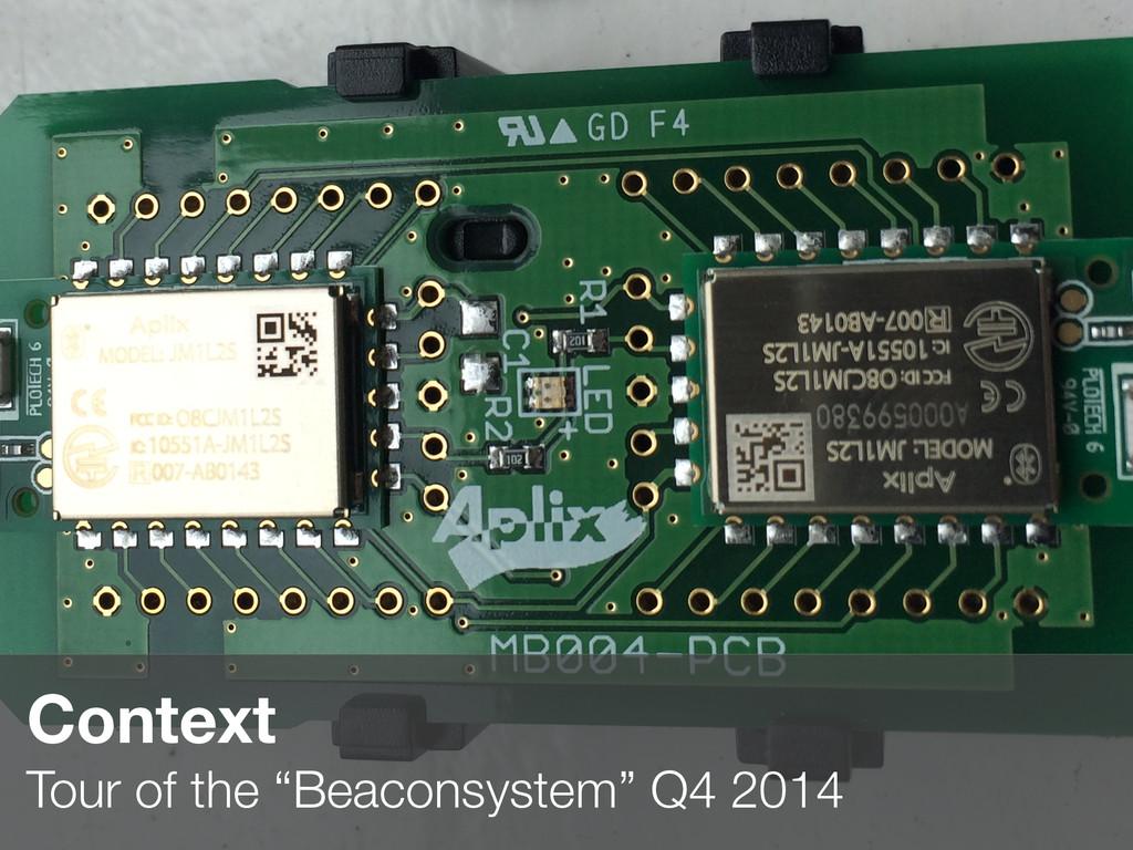 "2 Context  Tour of the ""Beaconsystem"" Q4 2014"