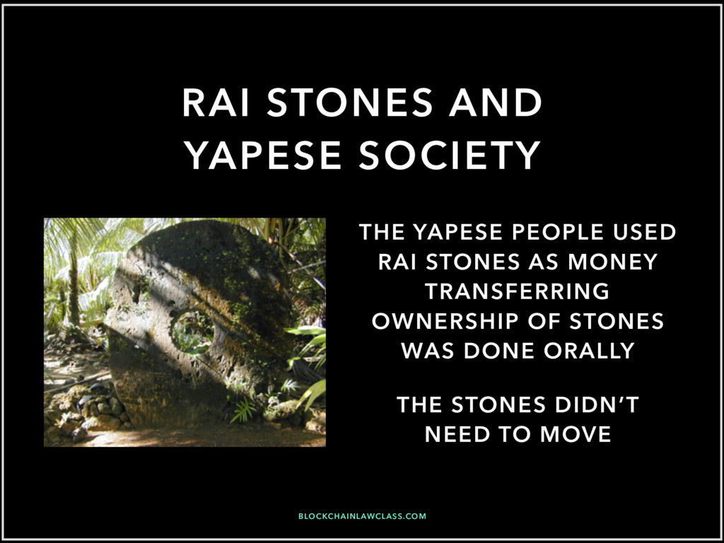 RAI STONES AND YAPESE SOCIETY THE STONES DIDN'T...