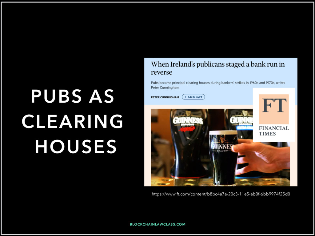 BLOCKCHAINLAWCLASS.COM PUBS AS CLEARING HOUSES ...