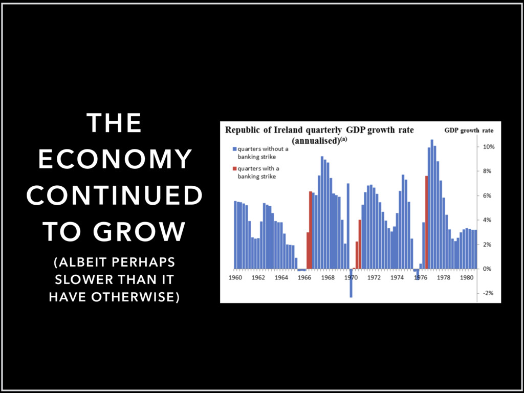 THE ECONOMY CONTINUED TO GROW (ALBEIT PERHAPS S...