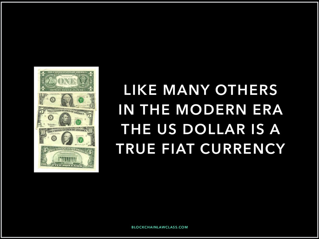LIKE MANY OTHERS IN THE MODERN ERA THE US DOLLA...