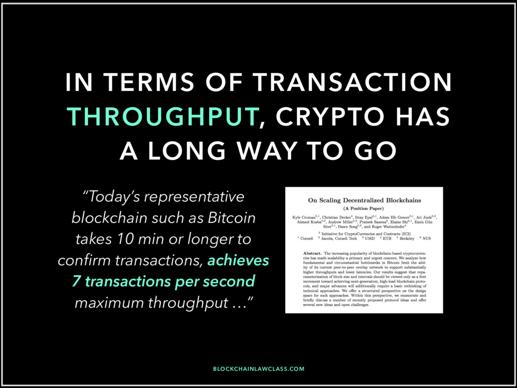 IN TERMS OF TRANSACTION THROUGHPUT, CRYPTO HAS ...