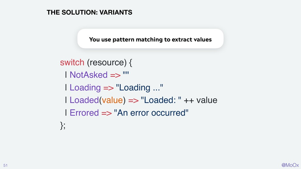 @MoOx 51 THE SOLUTION: VARIANTS switch (resourc...