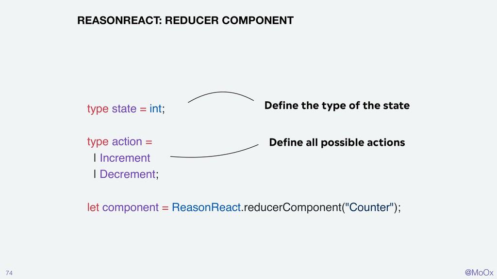 @MoOx 74 REASONREACT: REDUCER COMPONENT Define ...