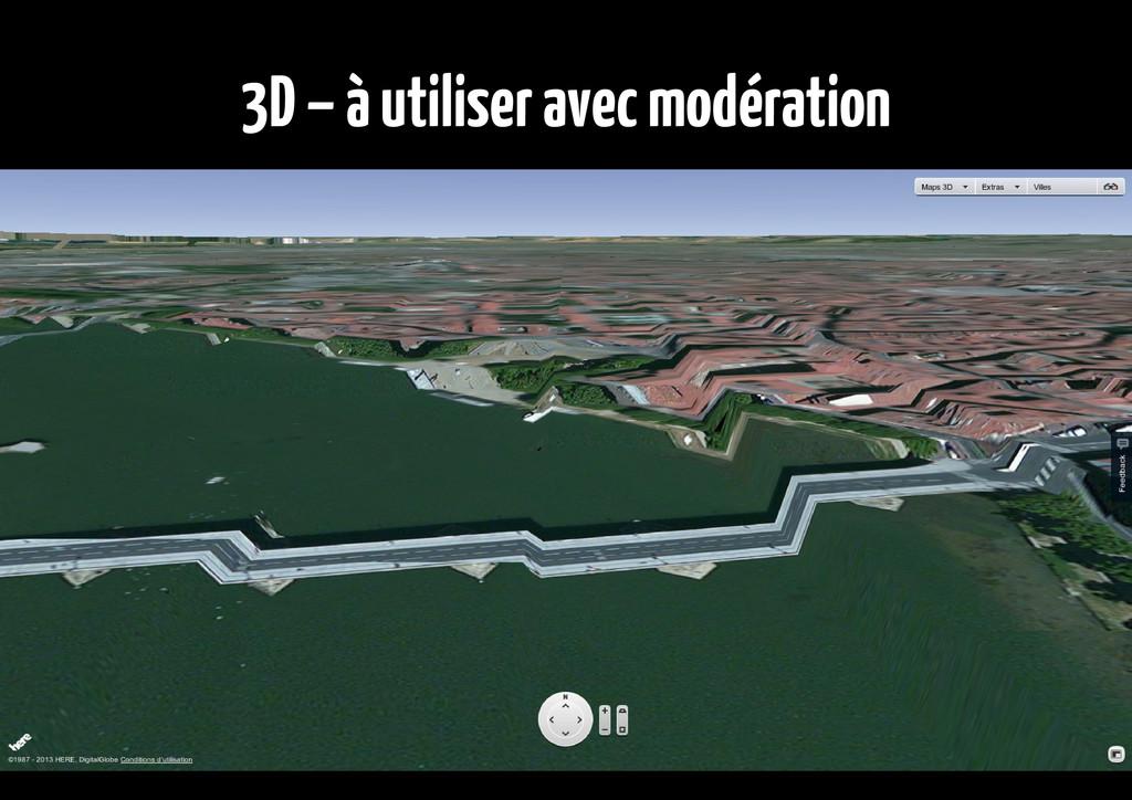 3D – à utiliser avec modération
