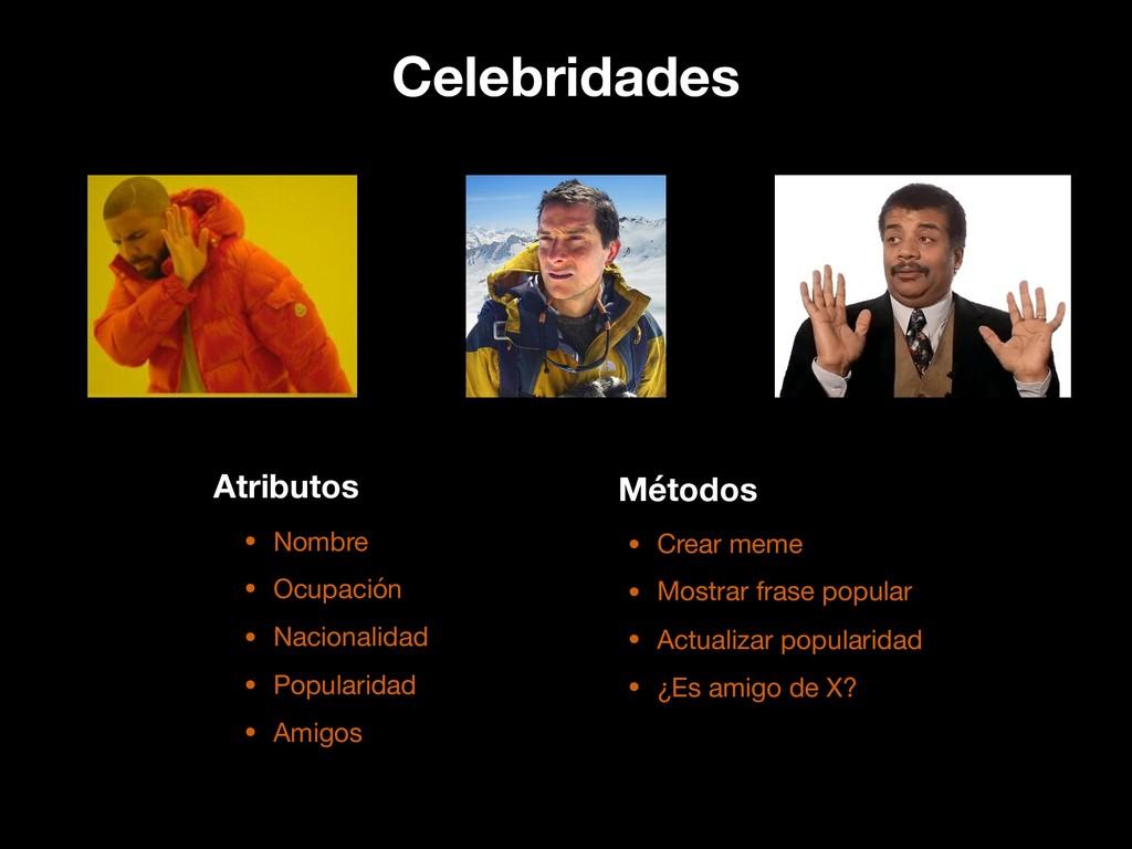 Celebridades • Nombre  • Ocupación  • Nacionali...
