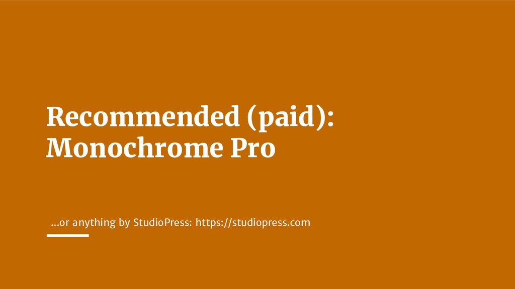 Recommended (paid): Monochrome Pro ...or anythi...