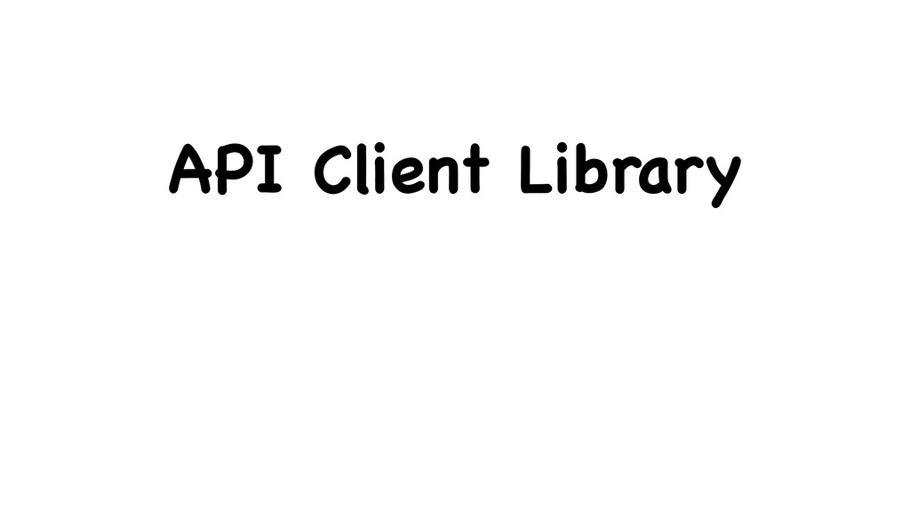 API Client Library