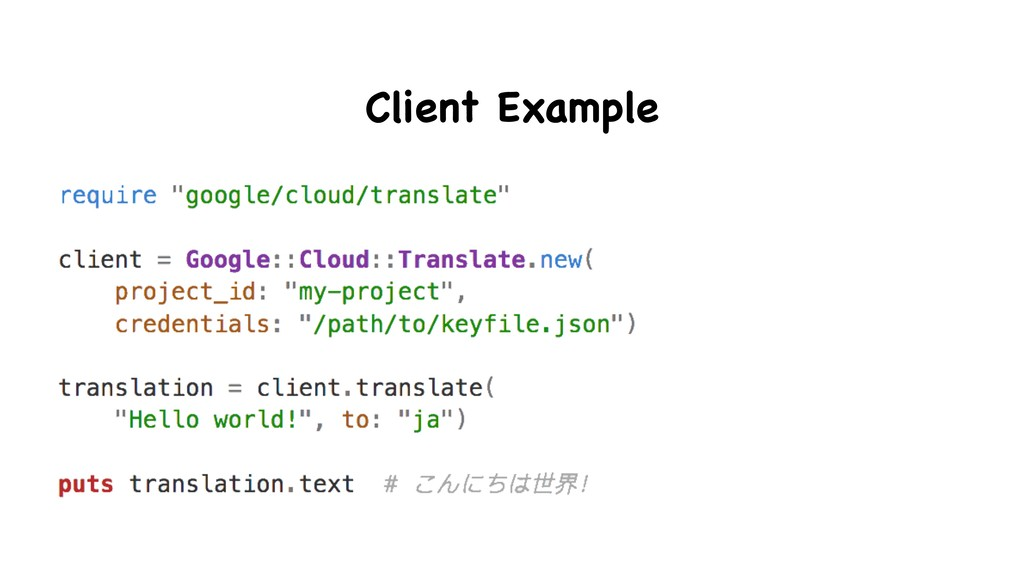 Client Example